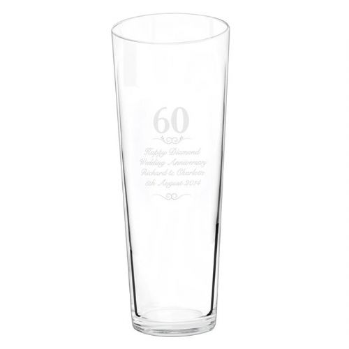 Personalised 60 years Conical Vase